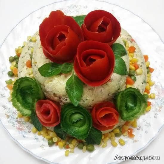 تزئینات ویژه و خلاقانه گوجه فرنگی