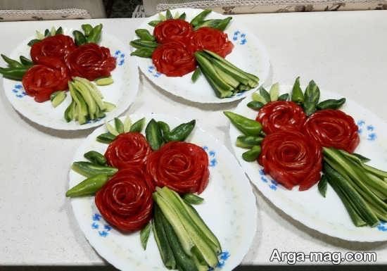 انواع مدل تزئین گوجه فرنگی
