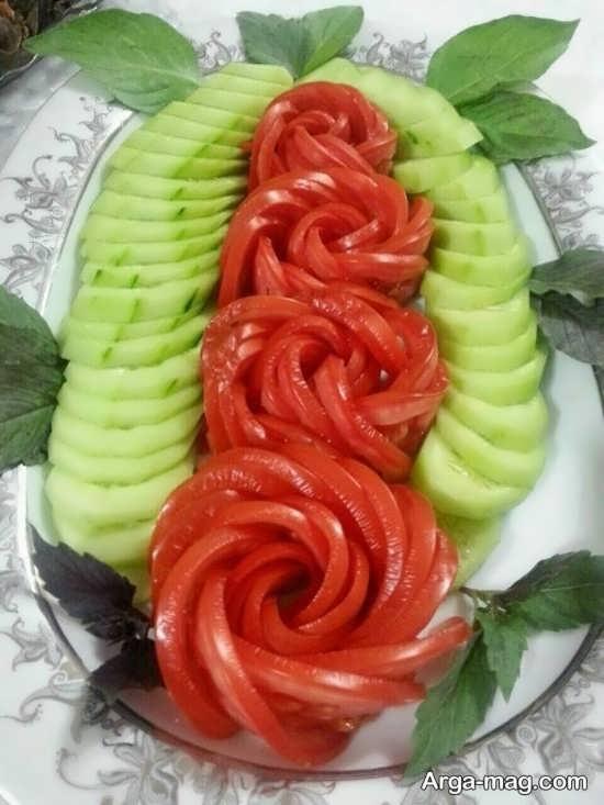 مدل های جذاب تزئین گوجه فرنگی