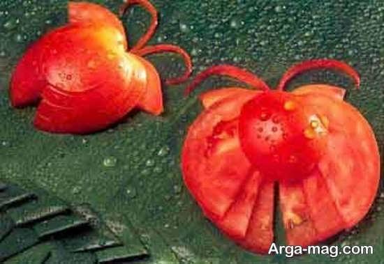 مدل های زیبا تزئین گوجه فرنگی