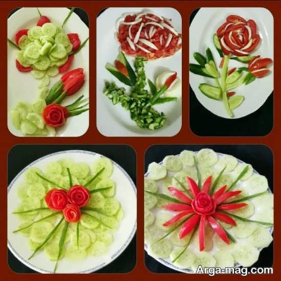 تزیینات گوجه فرنگی با ایده های خاص