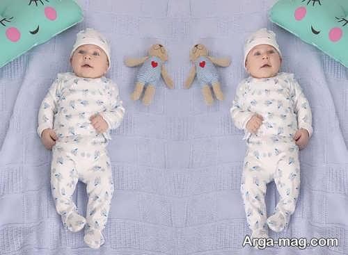 لباس سرهمی طرح دار برای نوزاد پسرانه