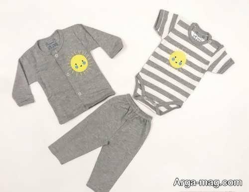 مدل لباس خاکستری برای نوزاد
