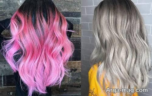 رنگ موی فانتزی زیبا و شیک