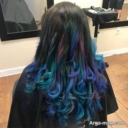 رنگ مو با هایلایت