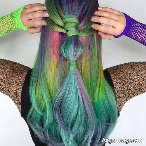 رنگ مو زیبا فانتزی