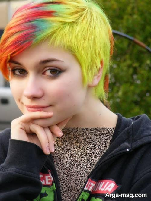 رنگ موی زیبا و جذاب فانتزی