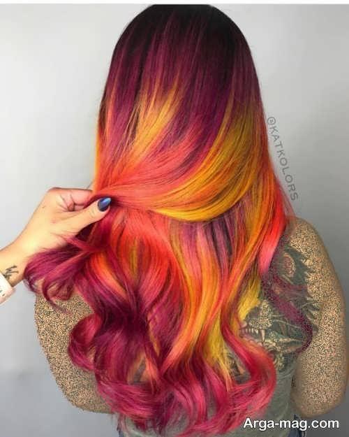 رنگ موی زیبا و جذاب