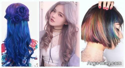 رنگ موی زیبا و جذاب زنانه