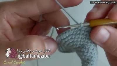 روش ساخت عروسک فیل بافتنی