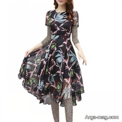 لباس کره ای طرح دار