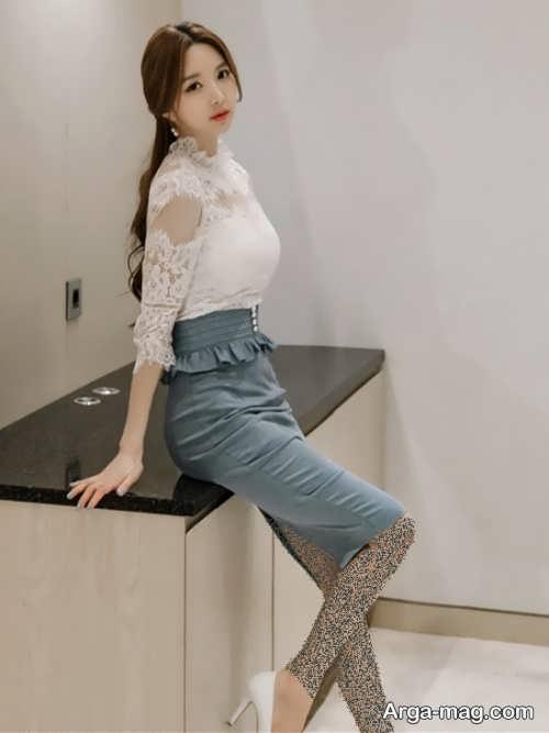 پیراهن مجلسی کره ای زیبا و شیک