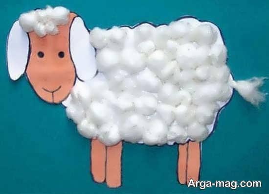 انواع کاردستی کودکانه گوسفند