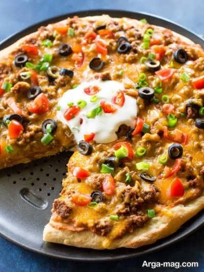 پیتزا مکزیکی بی نظیر و خوشمزه
