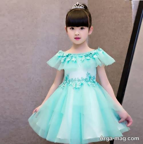 لباس عروس رنگی بچه گانه
