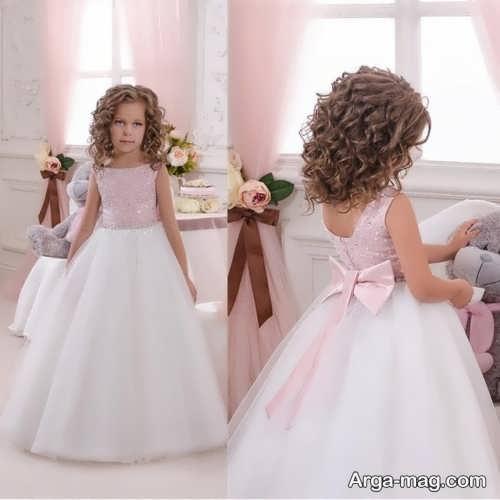 لباس عروس کار شده بچه گانه