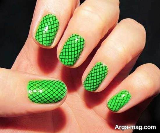 ایده شیک و جذاب با لاک سبز