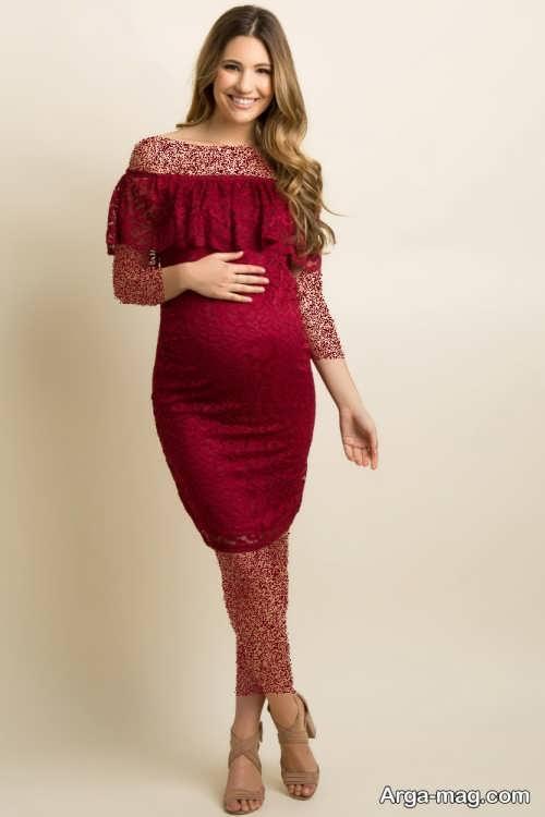 مدل لباس مجلسی کوتاه بارداری