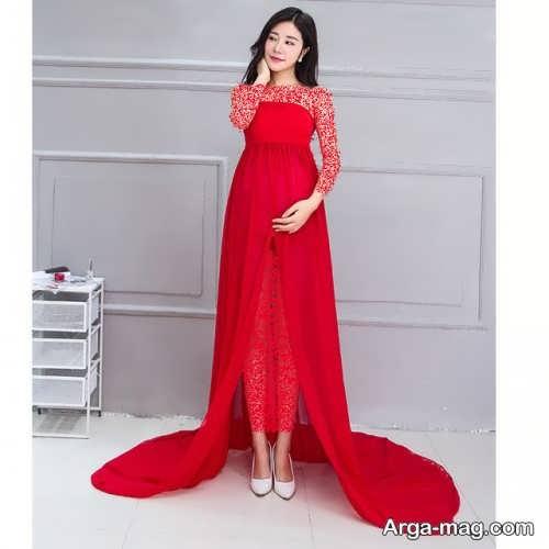 مدل لباس بارداری قرمز