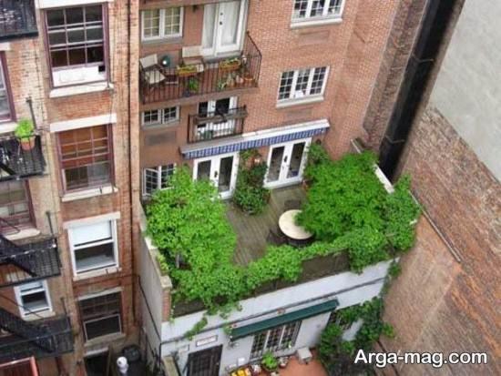 ایجاد فضای سبز در پشت بام