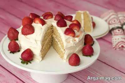 کیک وانیلی خوشمزه