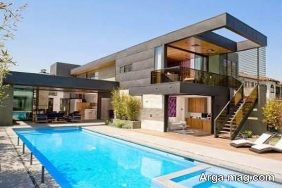 مدل زیبای استخر خانگی با طراحی مدرن