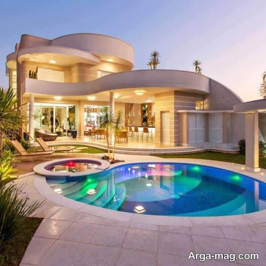 تصویر رویایی و زیبا ازاستخر خانه ویلایی