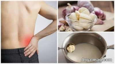مصرف شیر و سیر برای درمان کمردرد