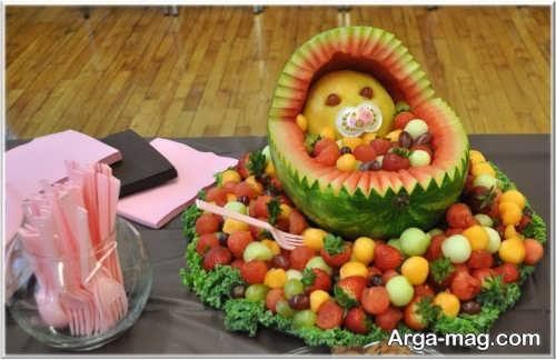 تزیین جالب ظرف میوه