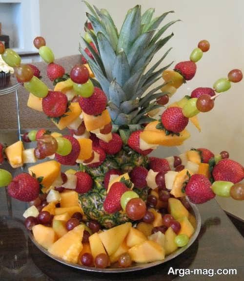 زیباسازی میوه با سیخ چوبی