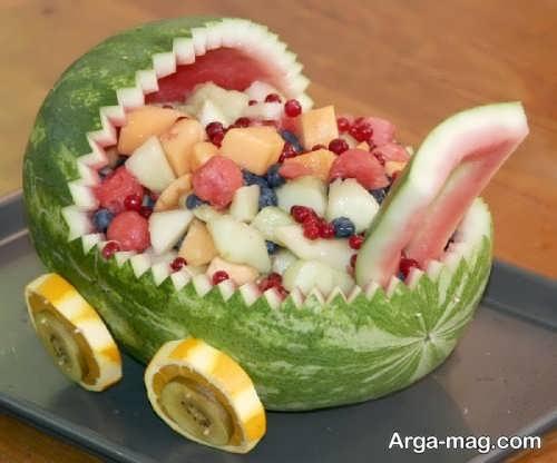 زیباسازی خلاقانه میوه