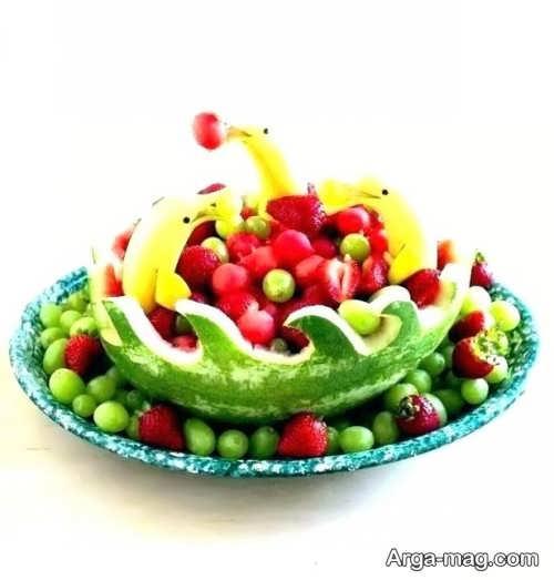 تزیین فانتزی میوه