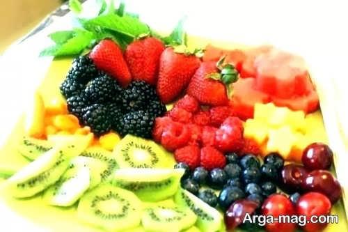 زیباسازی ظرف میوه