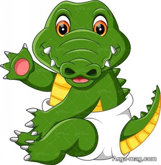 نقاشی تمساح برای کودکان