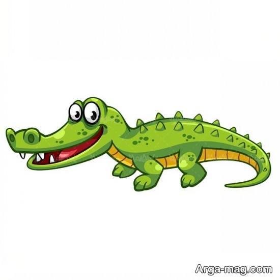 نقاشی بامزه تمساح