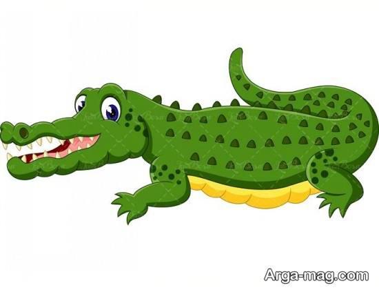 نقاشی مختلف تمساح