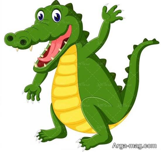 نقاشی کودکانه تمساح