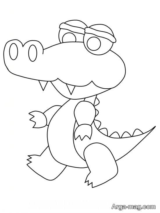 نقاشی تمساح با الگوی خاص