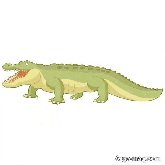 الگوی نقاشی تمساح