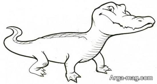 نقاشی متفاوت تمساح