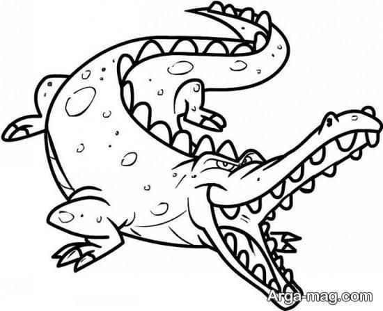 طراحی تمساح وحشتناک