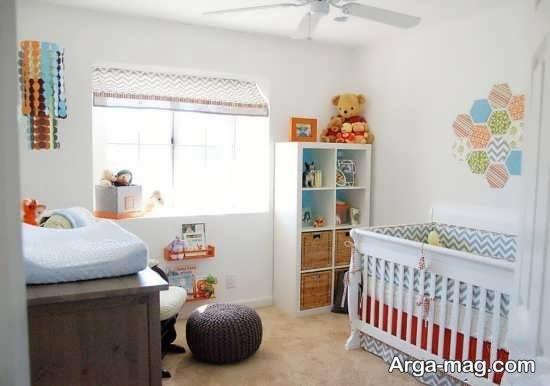 تزیین زیبای اتاق نوزاد با وسایل ساده
