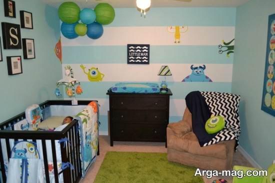 تزیین اتاق نوزاد پسر ساده و جدید