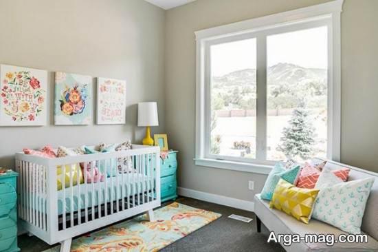 تزیین اتاق نوزاد با عروسک