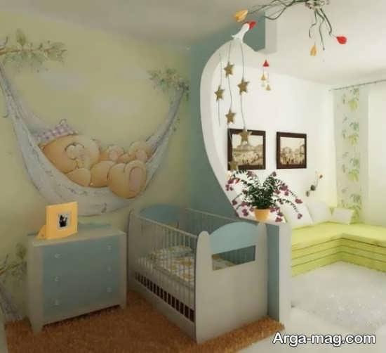دکوراسیون جذاب اتاق نوزاد