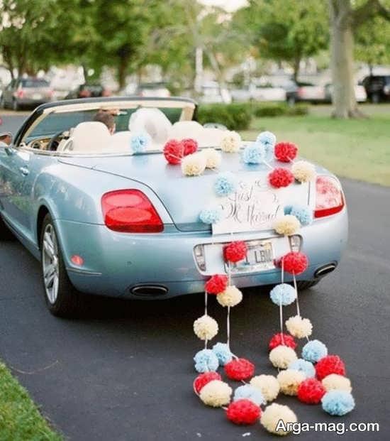 تزیین و بادکنک آرایی ماشین عروس