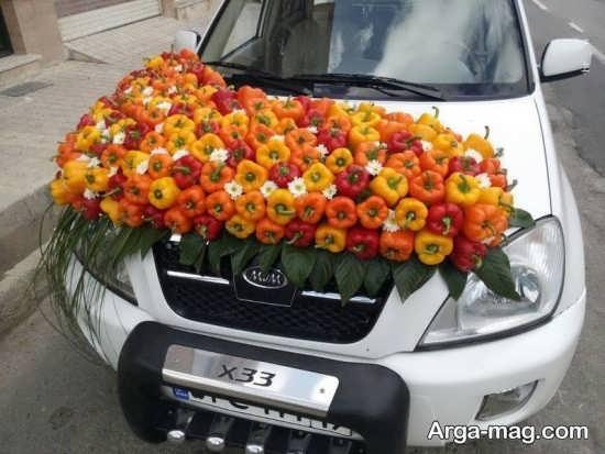 تزیین میوه برای ماشین عروس