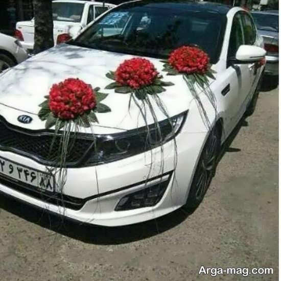 تزیین گل ماشین عروس
