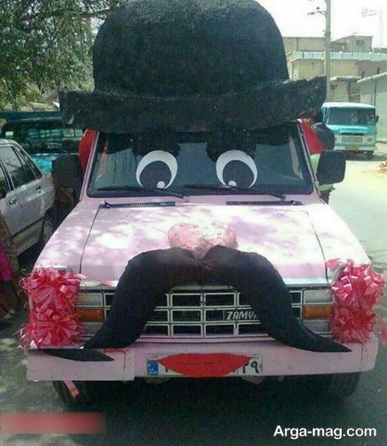 تزئین فانتزی ماشین عروس