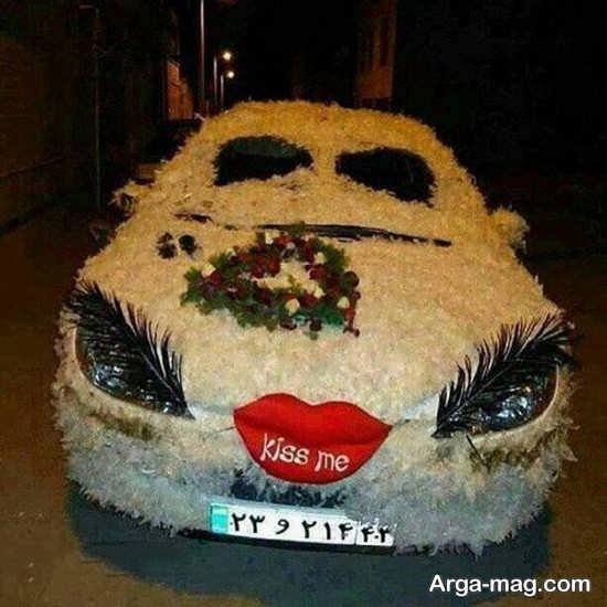 تزیین فانتزی ماشین عروس